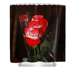 Shower Curtain featuring the photograph Birthday Roses by Vadim Levin