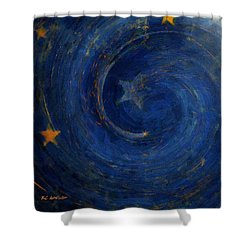 Birthed In Stars Shower Curtain