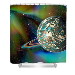 Birthing Planet Shower Curtain