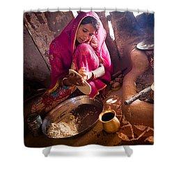 Bishnoi Kitchen Shower Curtain