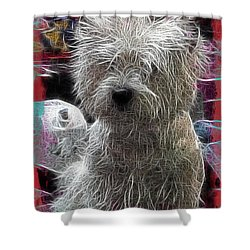 Shower Curtain featuring the photograph Bishon Frise by EricaMaxine  Price