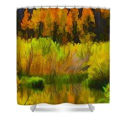 Bishop Creek Aspens Shower Curtain