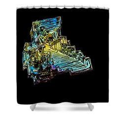 Shower Curtain featuring the photograph Bismuth Crystal by Rikk Flohr
