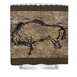 Bison From Niaux Cave Shower Curtain