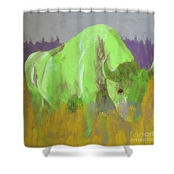Bison On The American Plains Shower Curtain