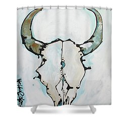 Bison Skull #2 Shower Curtain