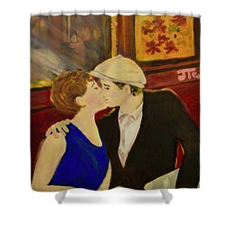 Bisou Shower Curtain by Julie Todd-Cundiff