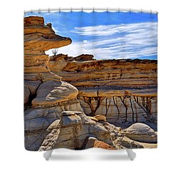 Bisti Badlands Formations - New Mexico - Landscape Shower Curtain by Jason Politte