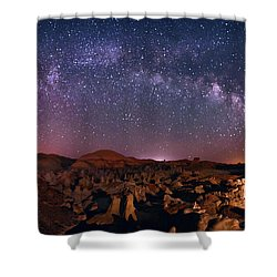Bisti Badlands Night Sky - 2 Shower Curtain