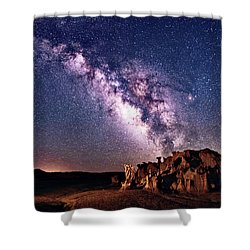 Bisti Badlands Night Sky Shower Curtain