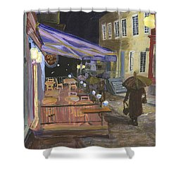 Bistro Sous Le Fort Shower Curtain