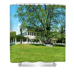 Shower Curtain featuring the photograph Bit O Nh History by Greg Fortier
