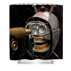Bite The Bullet - Steampunk Shower Curtain