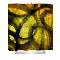 Shower Curtain featuring the mixed media Biting Soul by Lucia Sirna