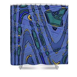 Bits And Pieces - Cool Shower Curtain by Ben and Raisa Gertsberg