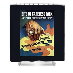 Bits Of Careless Talk Shower Curtain by War Is Hell Store