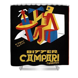 Bitter Campari - Aperitivo - Vintage Beer Advertising Poster Shower Curtain