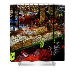Biward Market Garlic Shower Curtain