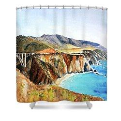 Bixby Bridge Big Sur Coast California Shower Curtain