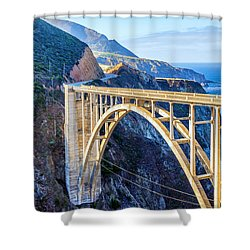 Bixby Bridge Shower Curtain by Joseph S Giacalone