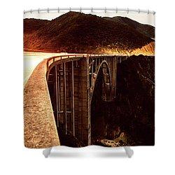 Bixby Creek Bridge, California Shower Curtain