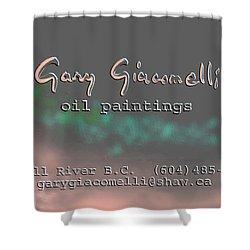 Biz Card Shower Curtain