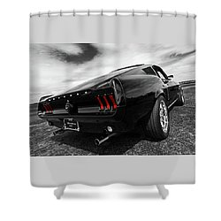 Black 1967 Mustang Shower Curtain
