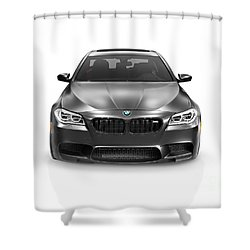 Black 2015 Bmw M5 Luxury Car Shower Curtain