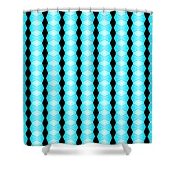 Black And Blue Diamonds Shower Curtain by Bob Wall