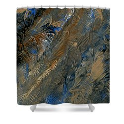 Black And Blue With A Bit Of Copper Thrown In For Good Measure - 3 Shower Curtain