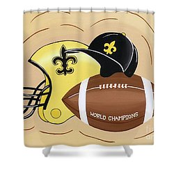 Black And Gold Champs Shower Curtain