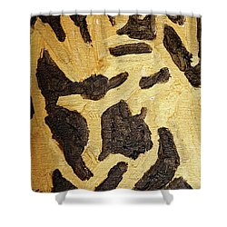 Black And Gold Mask Shower Curtain