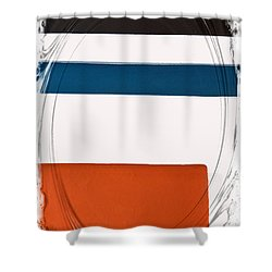 Black And Orange Spots Shower Curtain