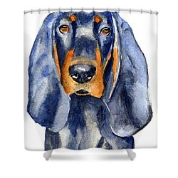 Black And Tan Coonhound Dog Shower Curtain