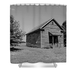 Black And White 108 Shower Curtain