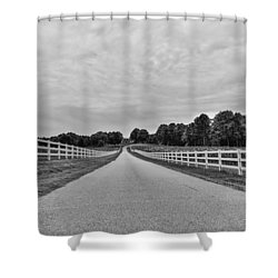 Black And White 134 Shower Curtain