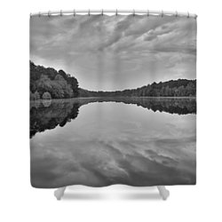 Black And White 71 Shower Curtain