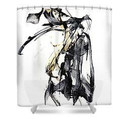 Black And White Abstract Expressionism Series 7344.072009 Shower Curtain