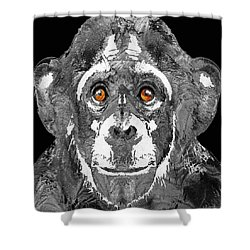 Black And White Art - Monkey Business 2 - By Sharon Cummings Shower Curtain