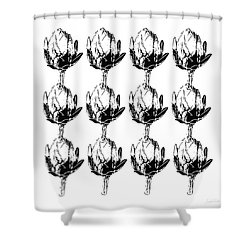 Black And White Artichokes- Art By Linda Woods Shower Curtain