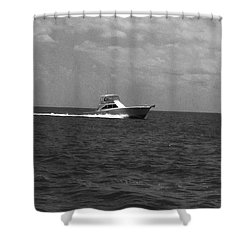 Black And White Boating Shower Curtain