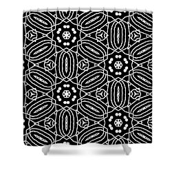 Black And White Boho Pattern 2- Art By Linda Woods Shower Curtain
