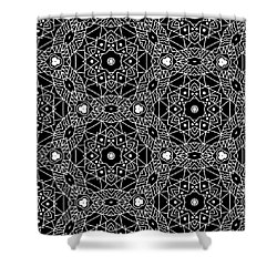 Black And White Boho Pattern 3- Art By Linda Woods Shower Curtain