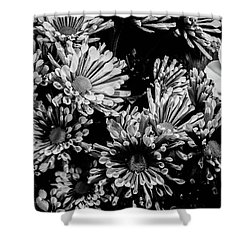 Black And White Bouquet Shower Curtain