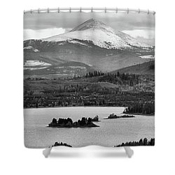 Shower Curtain featuring the photograph Black And White Breckenridge by Dan Sproul