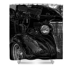 Black And White Chevrolet Shower Curtain