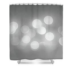 Black And White Circle Abstract  Shower Curtain by Terry DeLuco