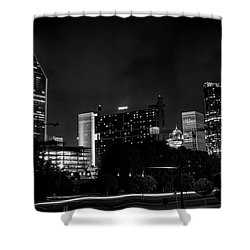 Black And White Downtown Shower Curtain