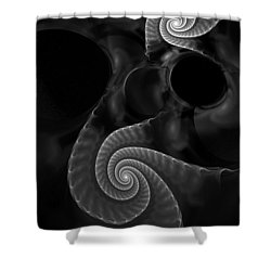 Black And White Fractal 080810 Shower Curtain by David Lane