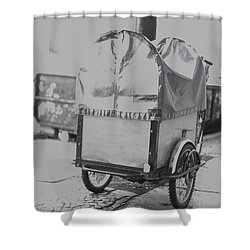 Black And White German Stroller Shower Curtain
